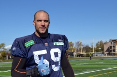(29/10/2013) - Joe Eppele after the Toronto Argonauts practice at St. Thomas Aquinas Catholic Secondary School.