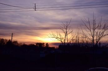 OSHAWA, Ont. (11/20/13) Sunset on Oshawa Blvd N.