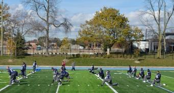 (29/10/2013) - Toronto Argonauts practice at St. Thomas Aquinas Catholic Secondary School .