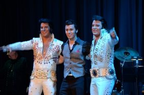 OSHAWA, Ont. (10/10/2014) - Fame and Fortune: Elvis Presley Tribute - Brycen Katolinsky, Dwight Icenhower and Jay Dupuis.
