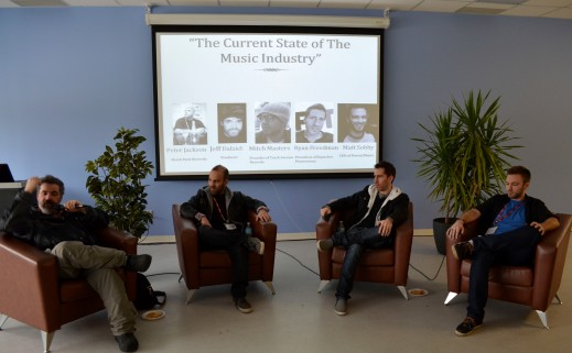 (04/05/14) - Current State of the Music Industry at Durham College on April 5 2014. Speakers Jeff Dalziel, Mitch Masters, Ryan Freedman and Matt Sobhy.
