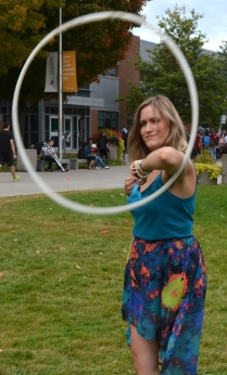 "Bridgette Hall - The ""Hula-Hoop Girl"" at Durham College."