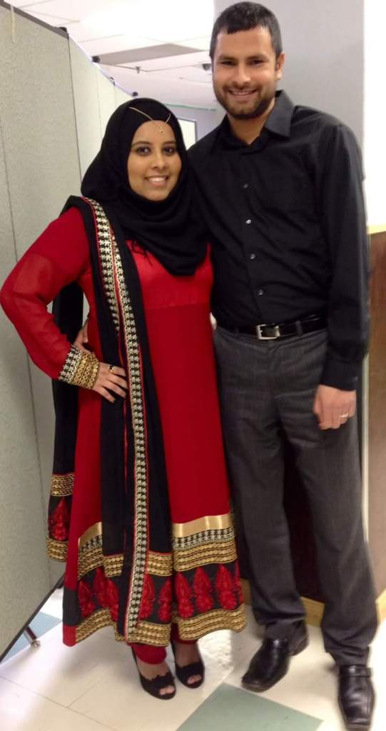 Ibtihaj Syed and his wife Afifa Siddiqui. Photo courtesy of Ibithaj Syed.